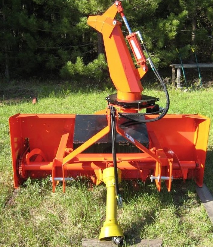 75 quot walco meteor pull type rear mounted snowblower
